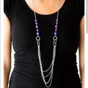 Free with Bundle Vivid Purple Necklace & Earrings